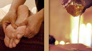 massage pieds huiles